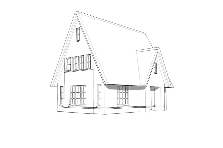 Een landelijke woning laten bouwen huis in landelijke stijl - Eigentijds eetkamer model ...