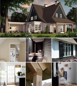 Een landelijke woning laten bouwen huis in landelijke stijl - Exterieur ingang eigentijds huis ...